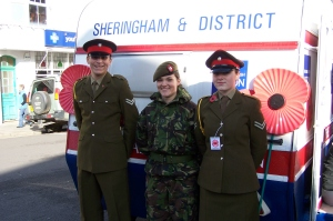 Sheringham Caravan Launch and Poppy Appeal collectors 2009